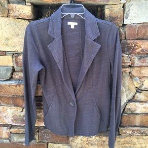 Gray Caslon cotton blazer